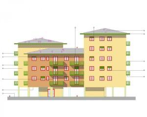 Prospetti - Progetto di nuova costruzione di N. 30 alloggi